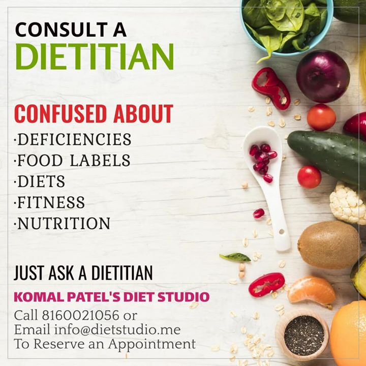 Dietitian nutritionists use nutrition and food science to help people improve  health and fitness. #dietitian #nutrionist #diet #fitness #dietstudio #dietclinic #Komalpatel