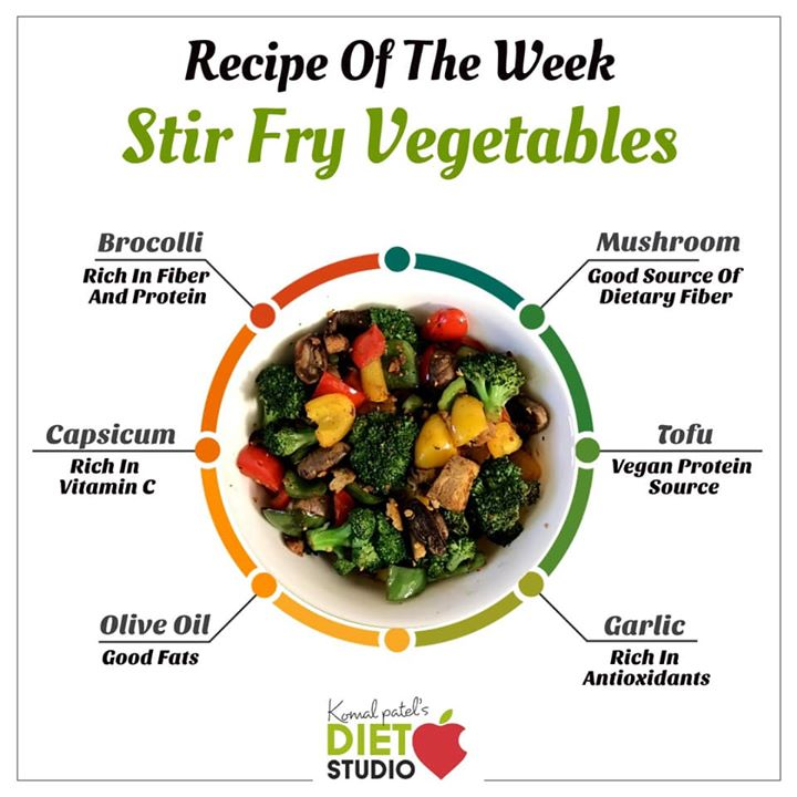 Komal Patel,  recipeoftheweek, stirfry, stirfryvegetables, vegetables, weightlossmenu