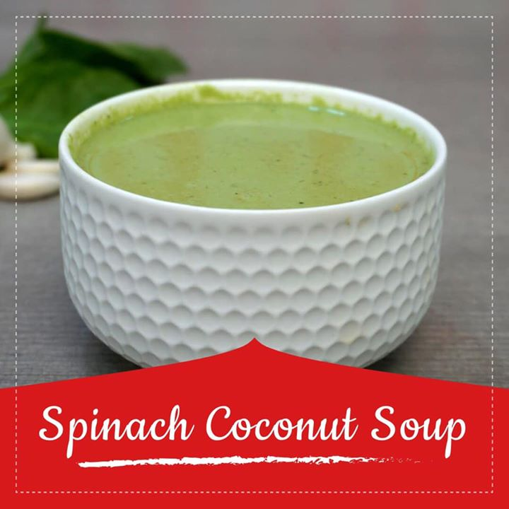 Komal Patel,  spinachcoconutsoup, soup, recipe, youtube, healthysoup, coconut, spinach, superfoods