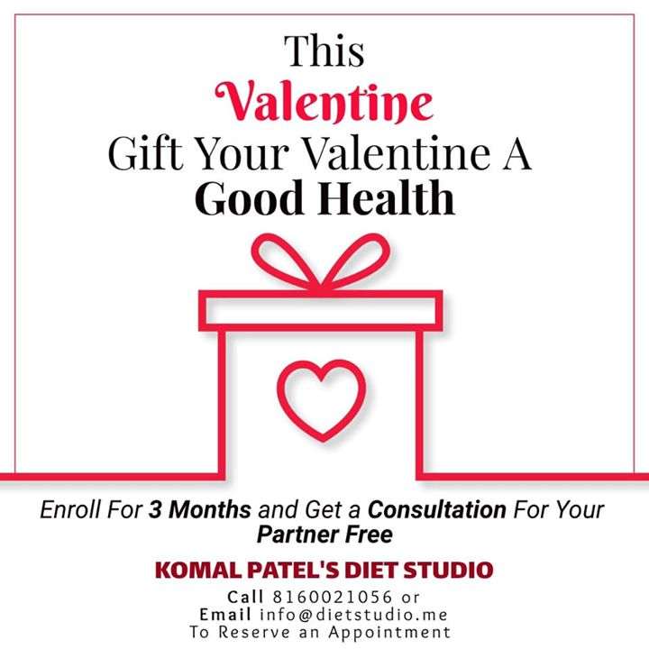Valentine is round the corner  This valentine gift your valentine a good health... #valentine #health #program #dietplan #dietstudio #dietclinic
