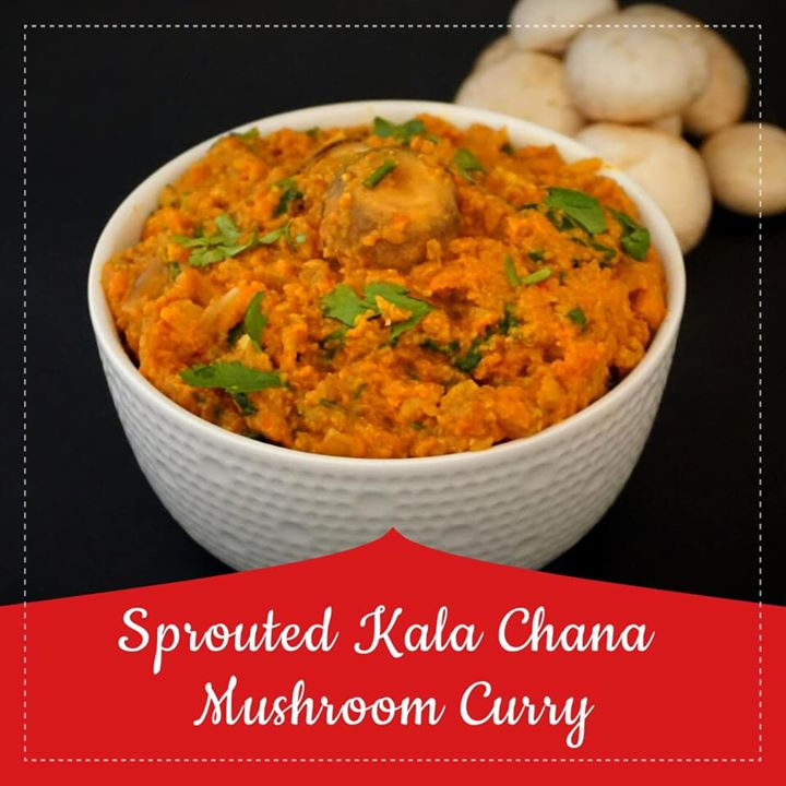 Komal Patel,  chana, mushroom, curry, indiancurry, youtube, healthyrecipe