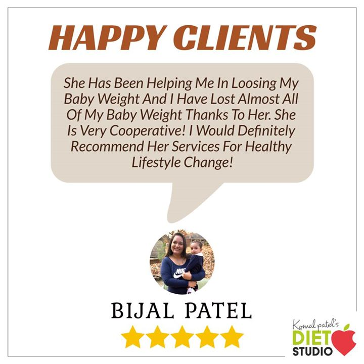 Happy to help people achieve their health goals even in USA Are you looking forward for post pregnancy nutrition plans ???  Bijal wanted to get down her weight after pregnancy. We tried balancing her food with some galactagogues which helped her feeding phase and also lose weight with all the energy to raise her child.  #weightloss #diet #dietplan #postpregnancy  #komalpatel #dietclinic