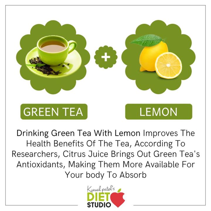 Green tea is naturally rich in catechin, a powerful antioxidant; by adding a splash of lemon juice, you'll maximize catechin's ability. The vitamin C within the lemon juice slows the breakdown of the tea's antioxidants, so more are readily available for your body to use. #lemon #greentea #tea #benefits #health #lemontea