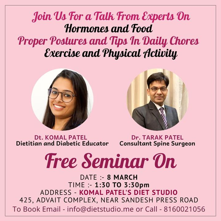 Komal Patel,  womens, womendsday, womenshealth, seminar