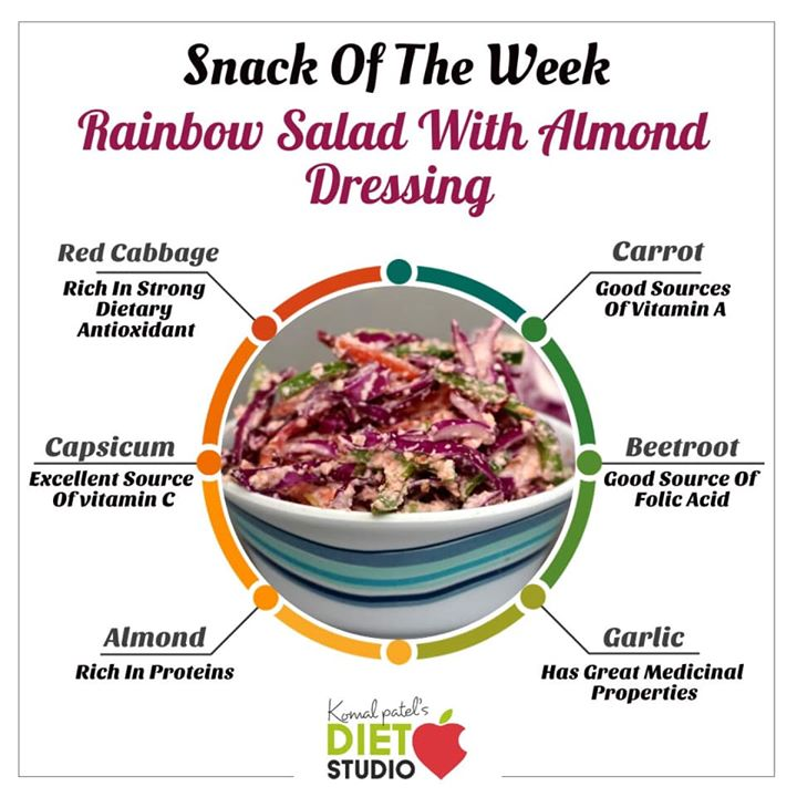 Snack of the week  #snackoftheweek  #salad  Who says salad has to be boring.. This Healthy Rainbow Chopped Salad recipe is bright, crunchy, and tossed with almond dressing. Eat the rainbow, and get your daily dose of raw vegetables!.. Check out for the recipe in the link below  https://youtu.be/4YOByeSQjZ0 #salad #rainbowsalad #healthysalad #healthyrecipe #youtube #vegetables