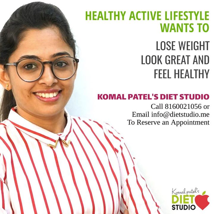Active healthy lifestyle defines a healthy body  Achieve it with our customised diet plans which help you with good results and sustained results  #komalpatel #dietstudio #dietclinic #dietplan #diet #weightloss #diabetes #thyroid #pcos