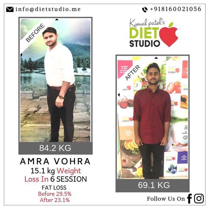 #transformation  Yet another transformation at diet studio. Transformation won't happen overnight.  It requires consistency, discipline and above all, self believe. Amra vohra from vijapur used to travel all the way to Ahmedabad for a fitter and healthy life.  All you need is dedication no matter how far the destination is  Congratulations Amra for your achievement. #weightloss #dietstudio #komalpatel #dietclinic #diet #weightloss #fatloss #healthylifestyle #fit #dietitian