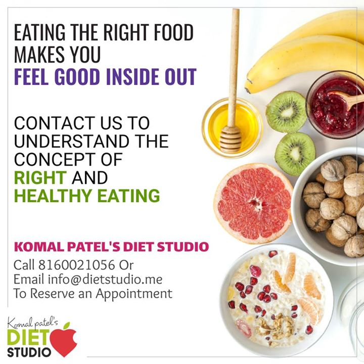 Eating clean and healthy makes you feel good, fit and healthy  #komalpatel #diet #dietstudio #dietclinic #dietplan