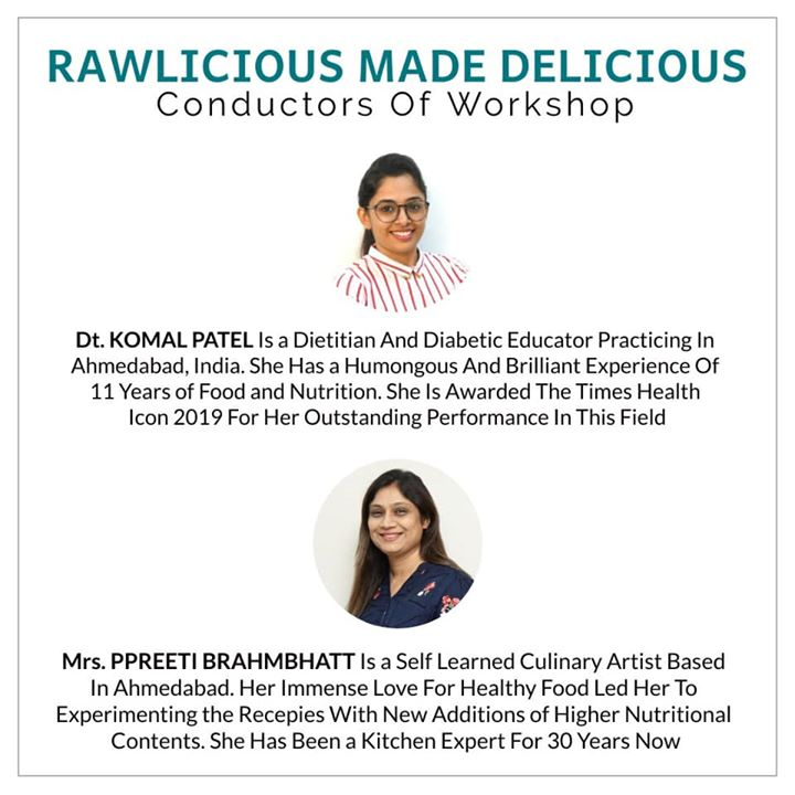 Rawlicious made delicious is a healthy cooking workshop.  This idea is aimed to learn healthy balanced diets to be consumed in your daily life. #diet #healthyeating #eatingclean #cleaneating #health #healthyfood #food #recipes #healthyrecipes #fit #fitness #lifestyle #healthylifestyle #lifestylechange #goodfood #goodvibes #dietitian #komalpatel #nutrition #nutrionist #ahmedabad #dietclinic #weightmanagment #weightloss #fatloss #healthfirst #balancediet #balancedfood #cooking #dietplan #lifeofdietitian #healthicon