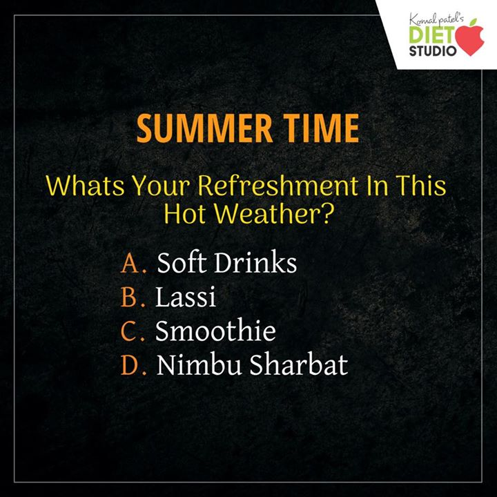 What's your refreshment??? Write your answer in comment section   #diet #healthyeating #eatingclean #cleaneating #health #healthyfood #food #recipes #healthyrecipes #fit #fitness #lifestyle #healthylifestyle #lifestylechange #goodfood #goodvibes #dietitian #komalpatel #nutrition #nutrionist #ahmedabad #dietclinic #weightmanagment #weightloss #fatloss #healthfirst #balancediet #balancedfood #cooking #dietplan #lifeofdietitian #healthicon