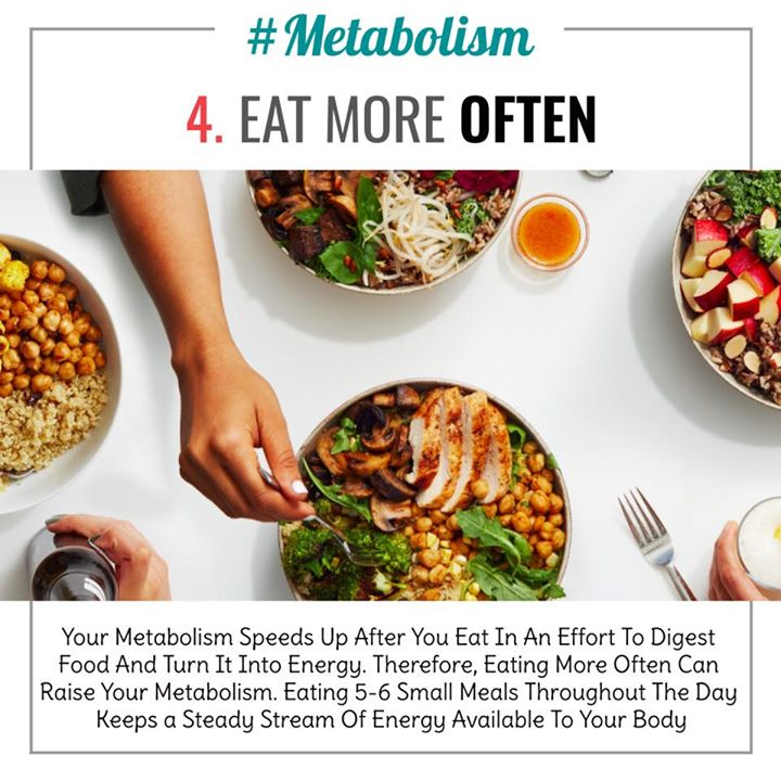 A person's metabolism is the rate at which their body burns calories for energy. The speed of metabolism depends on a variety of factors, including age, sex, body fat, muscle mass, activity level, and genetics. While a person has no control over the genetic aspects of their metabolism, there are some ways to help speed up the rate at which the body processes calories. Check out the ways to do it  #metabolism #calories #boost #speed
