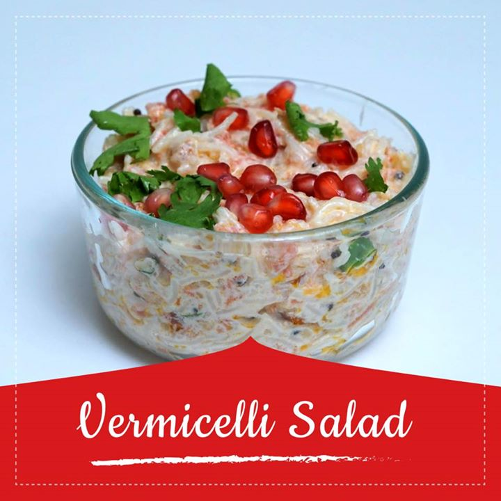 Vermicelli salad is a dish made of vermicelli and curd / yogurt. In this recipe, cooked vermicelli is mixed with seasoned curd and optionally garnished with sweet pomegranate seeds. Curd has numerous health benefits. It cools down the heat in stomach after eating spicy food. Curd consumption strengthens the immune system.  Check out for the recipe in the link below.  https://youtu.be/nRZ19NUtEiw #vermicelli #vermicellisalad #healthyrecipe #recipes #curd #youtube