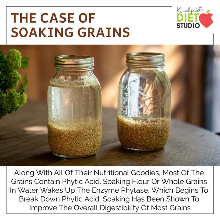 Along with all of their nutritional goodies, most of the grains contain phytic acid. Soaking flour or whole grains in water wakes up the enzyme phytase, which begins to break down phytic acid.  soaking has been shown to improve the overall digestibility of most grains.    #grains #soaking #wholegrain