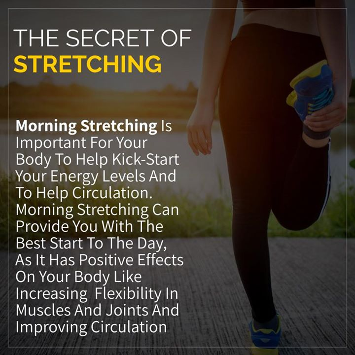 By stretching first thing in the morning, you are improving your brain activity, decreasing body aches and pains, and increasing your energy level throughout the day.  #stretching #exercise #morningroutine #energy #healthyhabit #habits #lifestyle