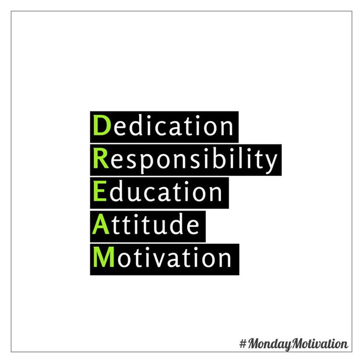 #mondaymotivation #dedication #responsibility #education #attitude #motivation
