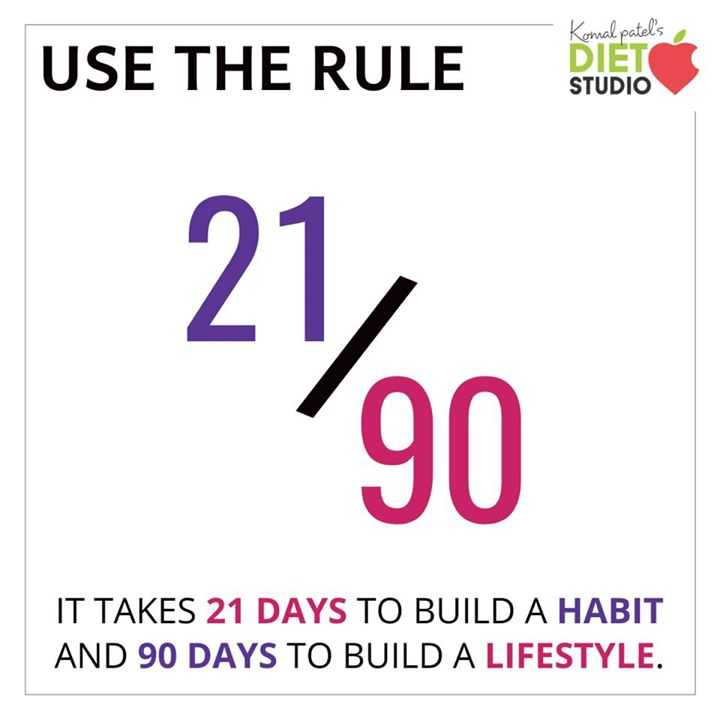 Komal Patel,  habit, lifestyle, healthyhabits, 21/90rule, healthylifestyle, commitment