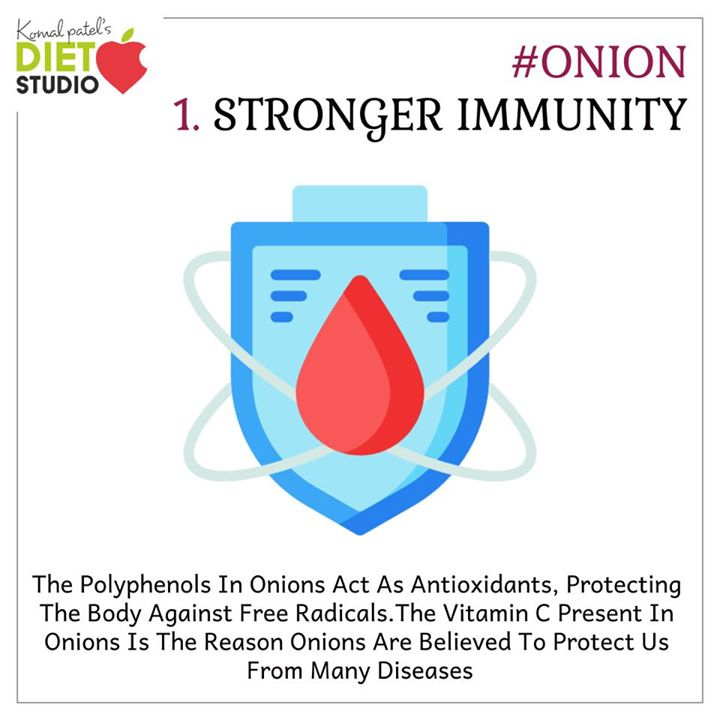 Onions are commonly used in kitchen in form of gravies or in salads.  Check out for the benefits of onion  #onion #benefits #health #salad