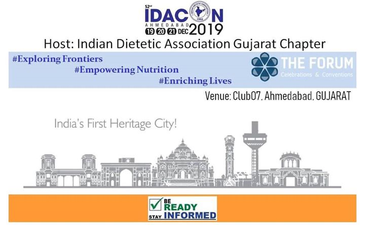Professional conferences provide a great opportunity to network.  Indian Dietetic Association National annual conference has a pivotal role to gather like-minded qualified diet experts from across the country, to learn, discuss, share thoughts, create new ideas, and to stay connected forever. Let's make it worth the trip to #ApnuAhmedabad