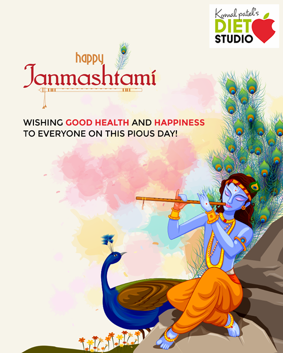 Wishing good health and happiness to everyone on this pious day!  #LordKrishna #Janmashtami #HappyJanmashtami #Janmashtami2019 #komalpatel #diet #goodfood #eathealthy #goodhealth