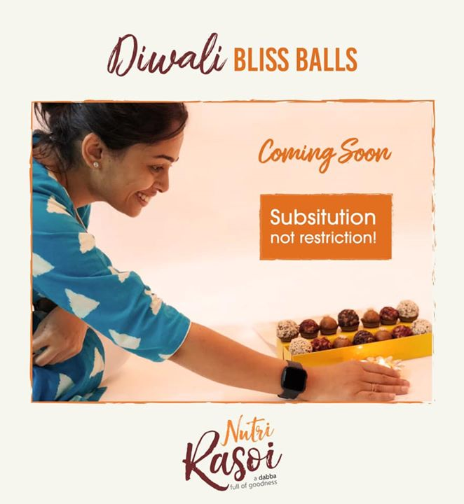 Health should be a lifestyle and not a trend  This Diwali the new tradition is substitution not restriction  Coming soon with Diwali bliss balls  @nutrirasoi- by Dietitan Komal Patel   #diwali #diwalisweets #photoshoot #sustitution #diwaligift #komalpatel #healthysweet #energyballs #guiltfree