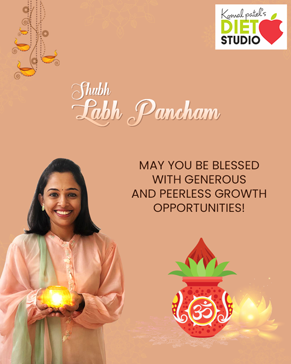 May you be blessed with generous & peerless growth opportunities!  #HappyLabhPancham #ShubhLabhPancham #LabhPancham2019 #LabhPancham #Celebration #FestiveSeason #IndianFestivals #Diwali2019 #komalpatel #diet #goodfood #eathealthy #goodhealth