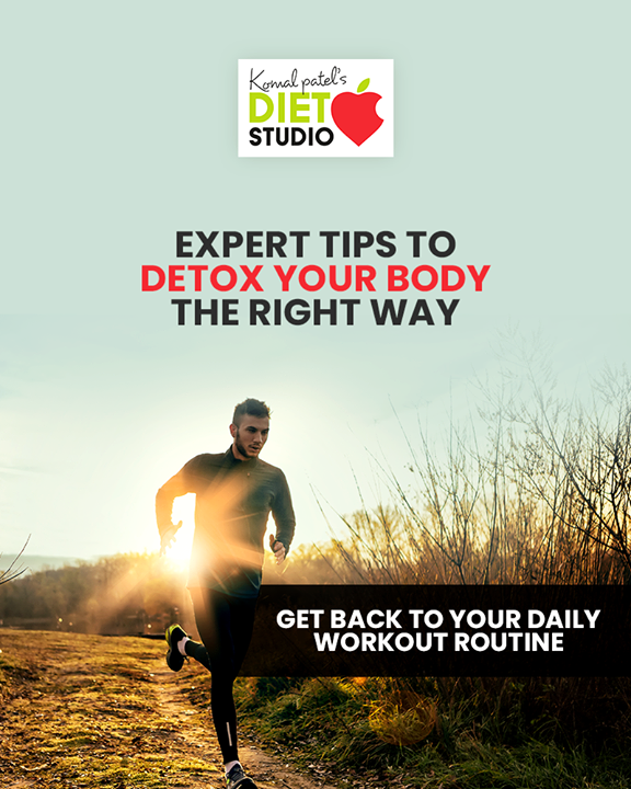 Get back on to your schedule but slowly. After the break, don't rush back to top form immediately. Warm ups, breathing exercises, stretches will all help you build up on your stamina. Diwali comes once a year so don't feel guilty with the indulgences  #postdiwalidetox #komalpatel #diet #goodfood #eathealthy #goodhealth