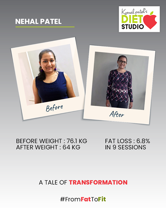 Transformation requires the next level of dedication & health commitment. We truly congratulate Nehal Patel for successfully climbing the ladder of fitness!   #komalpatel #diet #goodfood #eathealthy #goodhealth