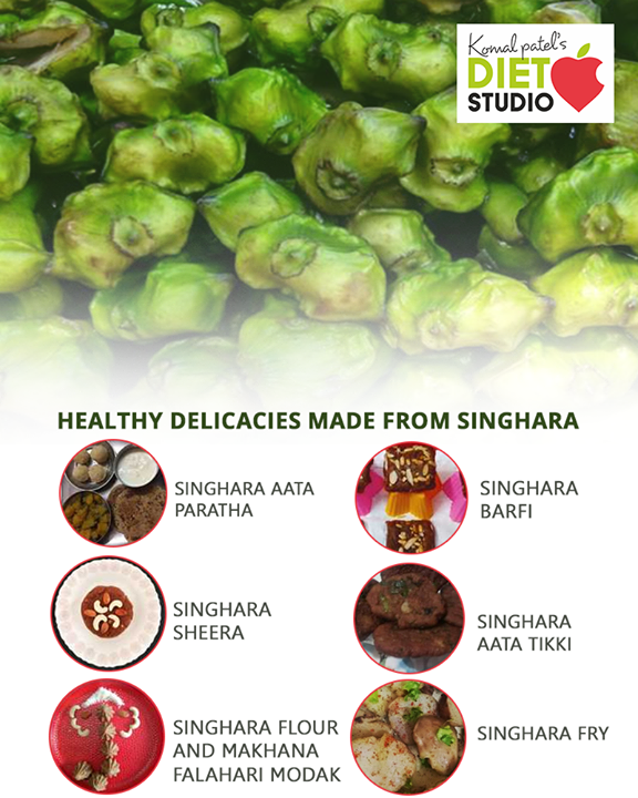 Healthy delicacies made from Singhara.  #komalpatel #diet #goodfood #eathealthy #goodhealth