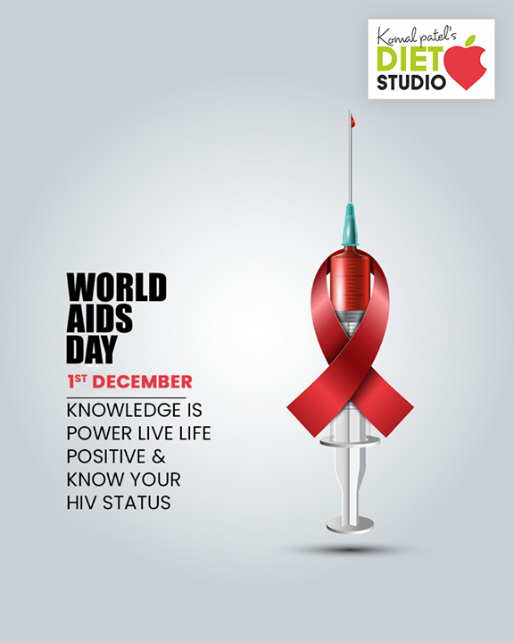 Knowledge is power Live life positive & know your HIV status.  #WorldAIDSDay #AIDSDay #AIDSDay2019 #WorldAIDSDay2019 #komalpatel #diet #goodfood #eathealthy #goodhealth
