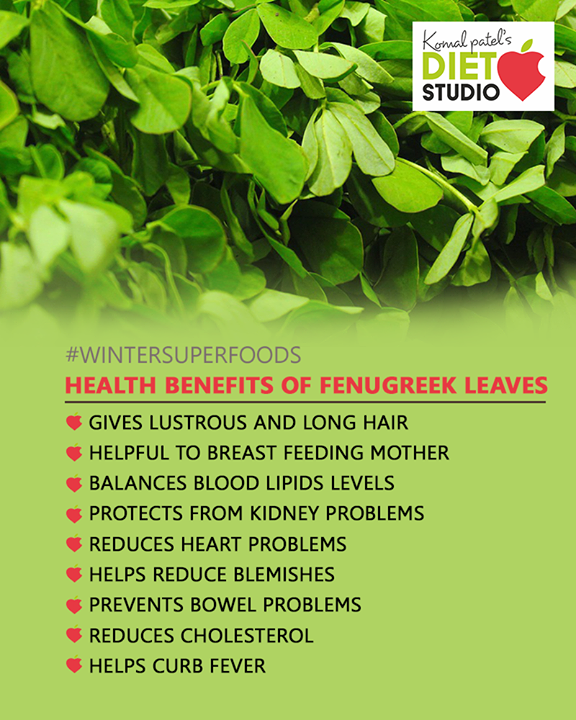 Health Benefits of fenugreek leaves!  #komalpatel #diet #goodfood #eathealthy #goodhealth
