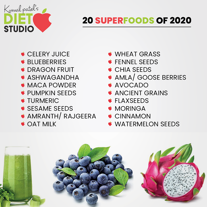 20 superfoods of 2020!  #20superfoods #komalpatel #diet #goodfood #eathealthy #goodhealth