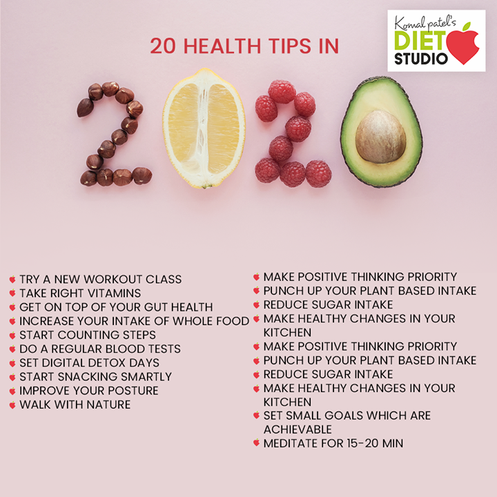 20 health tips for 2020!  #komalpatel #diet #goodfood #eathealthy #goodhealth