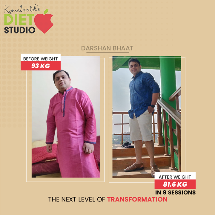 Transformation requires the next level of dedication & health commitment. We truly congratulate Darshan Bhaat for successfully climbing the ladder of fitness!  #komalpatel #diet #goodfood #eathealthy #goodhealth
