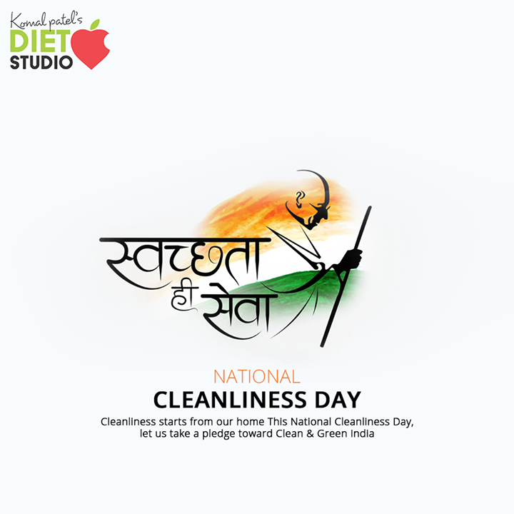Cleanliness starts from our home. This National Cleanliness Day, let us take a pledge toward Clean & Green India.  #CleanIndia #NationalCleanlinessDay#komalpatel #diet #goodfood #eathealthy #goodhealth