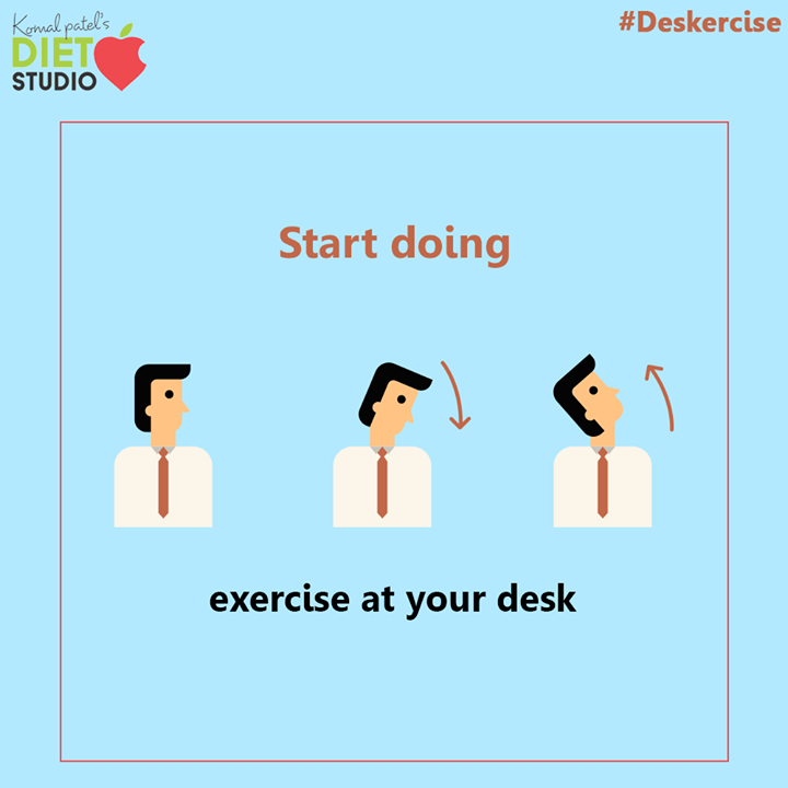 Everyone is working more hours and argues they don't have time to exercise, But we have an answer for your excuse that you can exercise on your desk itself.  #komalpatel #diet #goodfood #eathealthy #goodhealth