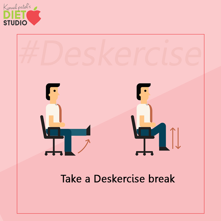 Exercise performed at the workplace, suited for those whose jobs require them to sit for prolonged periods. They should do this exercise.      #Deskercise #komalpatel #diet #goodfood #eathealthy #goodhealth