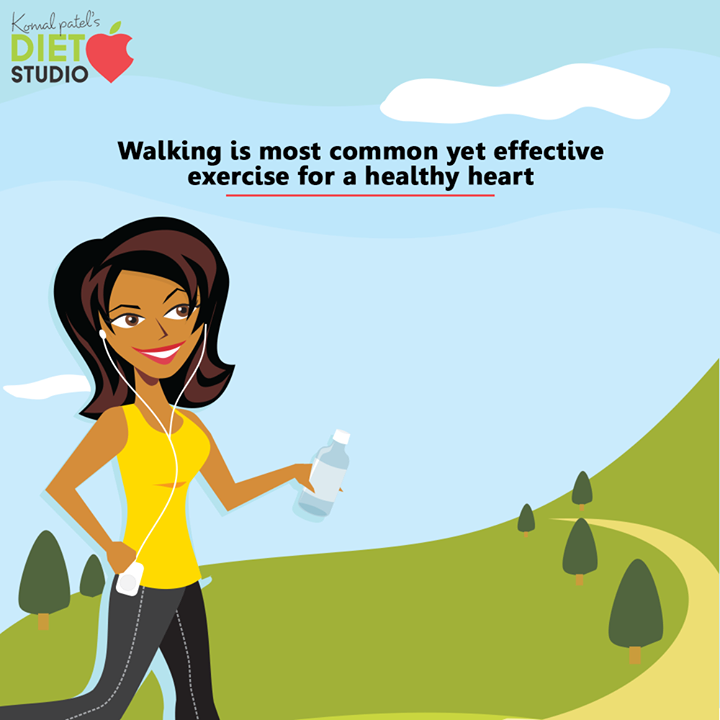 Walking improves fitness and reduces risk of heart disease.  #komalpatel #diet #goodfood #eathealthy #goodhealth