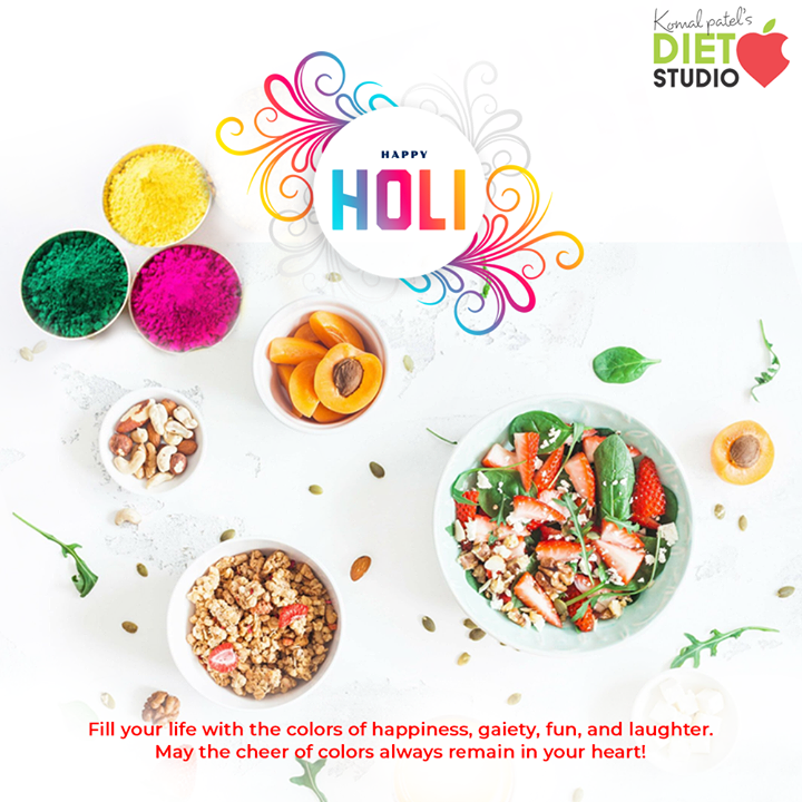 Fill your life with the colors of happiness, gaiety, fun, and laughter. May the cheer of colors always remain in your heart! Happy Holi!  #HappyHoli2020 #Holi2020 #HappyHoli #होली #Holi #IndianFestival #RangBarse #Colours #FestivalOfColours #komalpatel #diet #goodfood #eathealthy #goodhealth