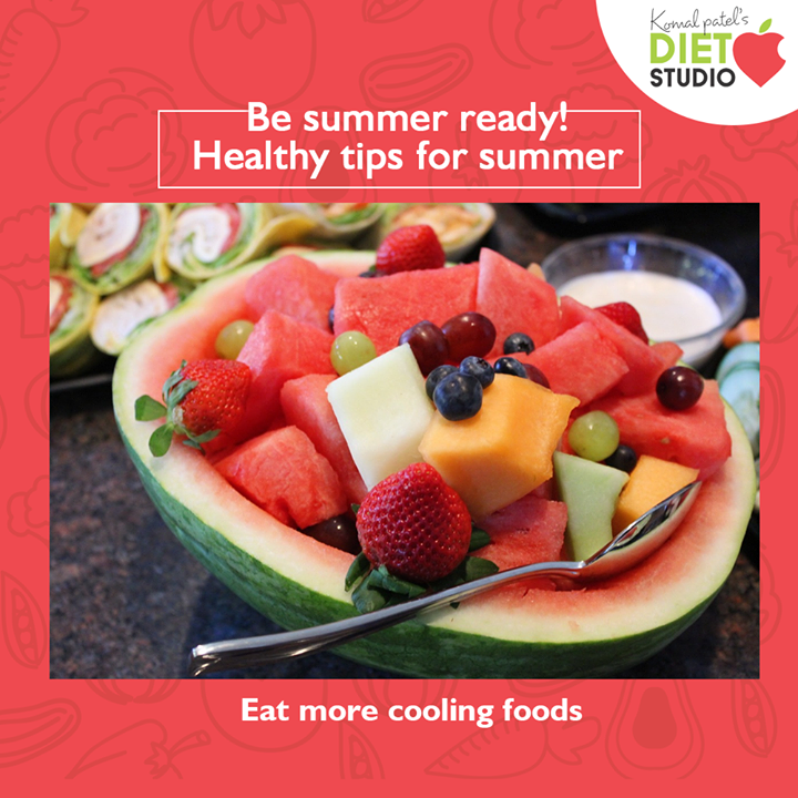 Restore and replenish your skin with cooling food and be summer ready!!  #komalpatel #diet #goodfood #eathealthy #goodhealth