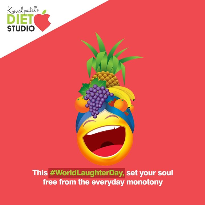 This #WorldLaughterDay, set your soul free from the everyday monotony.  #WorldLaughterDay2020 #LaughterDay #komalpatel #onlineconsultation #dietitian #ahmedabad #dietclinic #dietplan #weightloss #pcos #diabetes #immunitydietplan