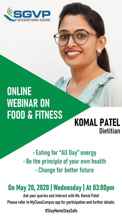 Komal Patel,  komalpatel, food, nutrition, lockdownlearningsession