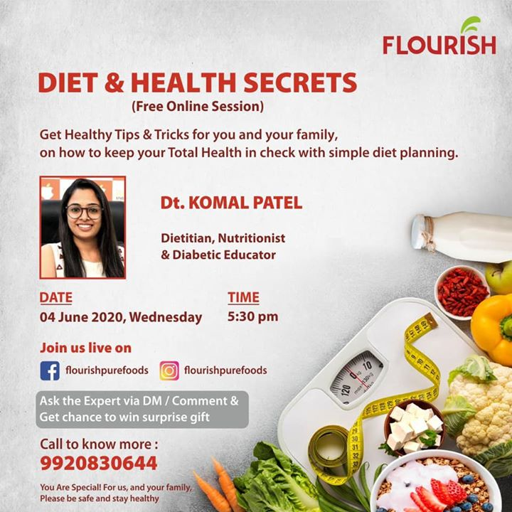 Diet and health secrets  @flourish  All about health and fitness