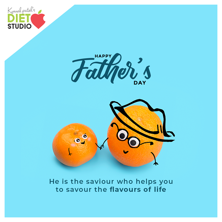 He is the saviour who helps you to savour the flavours of life.  #HappyFathersDay #FathersDay #FathersDay2020 #DAD #Father #komalpatel #onlineconsultation #dietitian #ahmedabad #dietclinic #dietplan #weightloss #pcos #diabetes #immunitydietplan