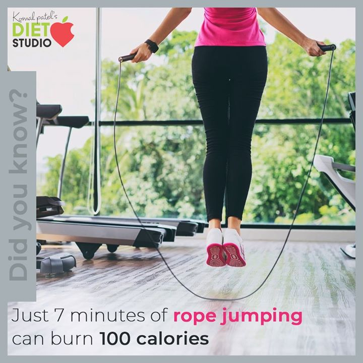 Jumping rope will help you achieve your fitness goals and build muscle strength at the same time!  #komalpatel #diet #goodfood #eathealthy #goodhealth