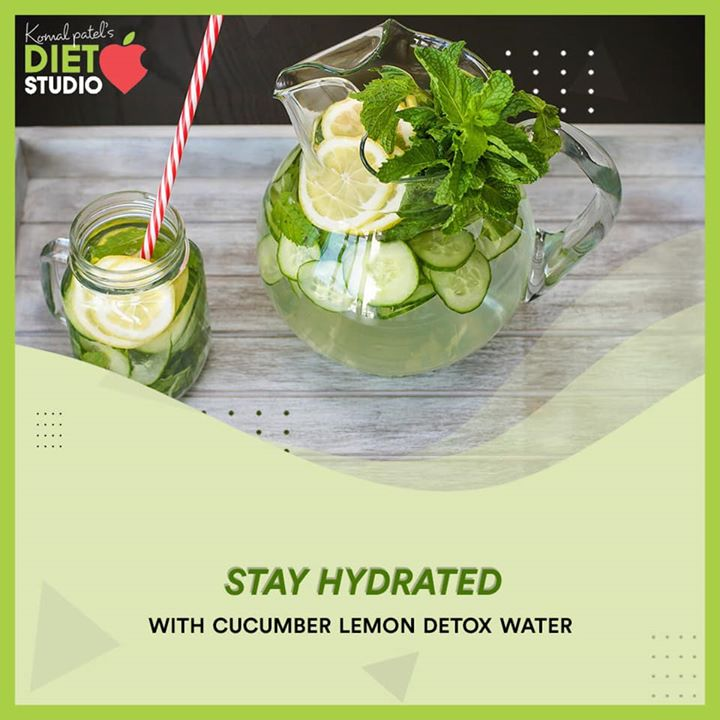 Stay hydrated  With lemon detox water  Loading up on hydrating drinks not only help in lowering the body temperatures but also facilitates smooth digestion, which further helps in cleansing and detoxifying the body.  #stayhydrated #detox #detoxwater #hydration
