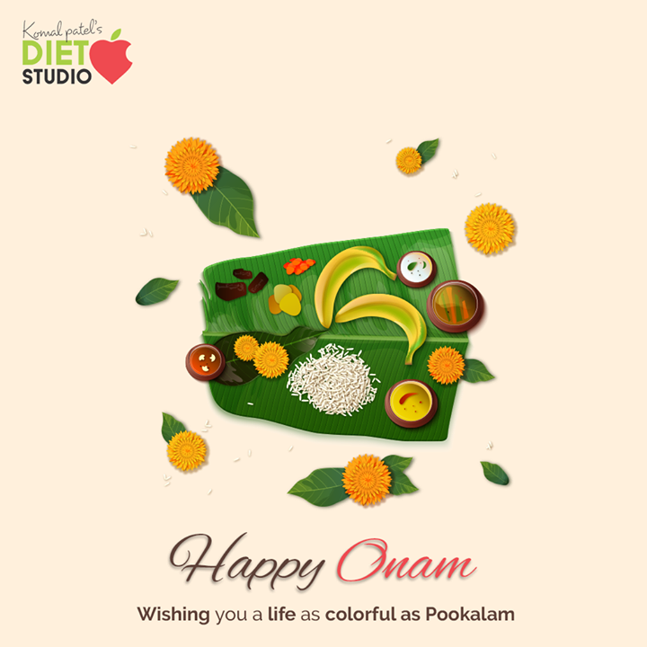 Wishing you a life as colorful as Pookalam.  #HappyOnam #Onam #Onam2020  #komalpatel #diet #goodfood #eathealthy #goodhealth