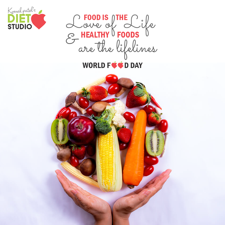 Food is the love of life & healthy foods are the lifelines  #WorldFoodDay #WorldFoodDay2020 #FoodDay   #KomalpPatel #Diet #GoodFood #EatHealthy #GoodHealth #DietPlan #DietConsultation