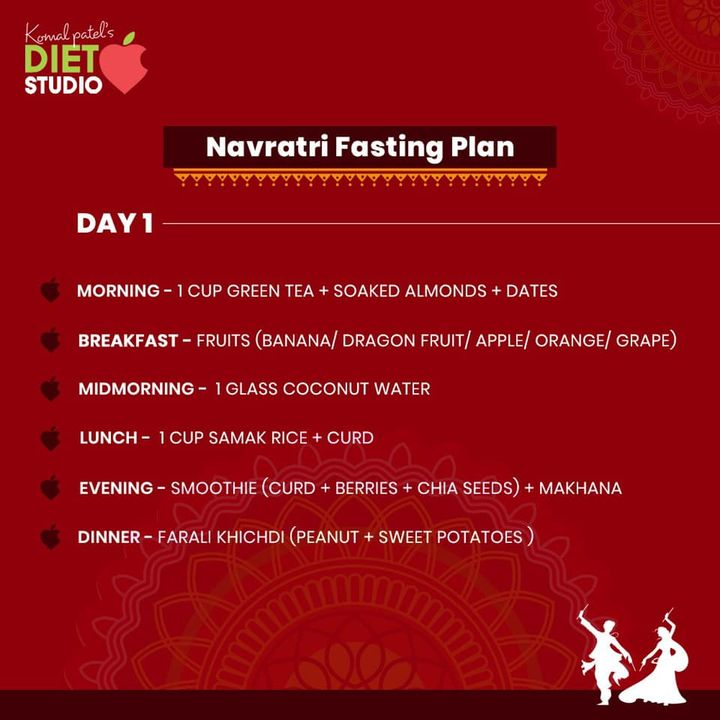Fasting Navratri food plan. An interesting balanced and healthy diet plan for all those health conscious people out there. #healthydietplan #navratri #dietplan #fasting #diet #dietitian