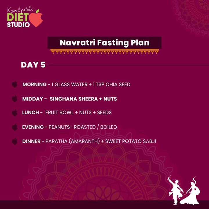 Fasting Navratri food plan.  An interesting balanced and healthy diet plan for all those health conscious people out there. #healthydietplan #navratri #dietplan #fasting #diet #dietitian #komalpatel  #dietitiansofinstagram #dietitian#fastingplan #navratridiet