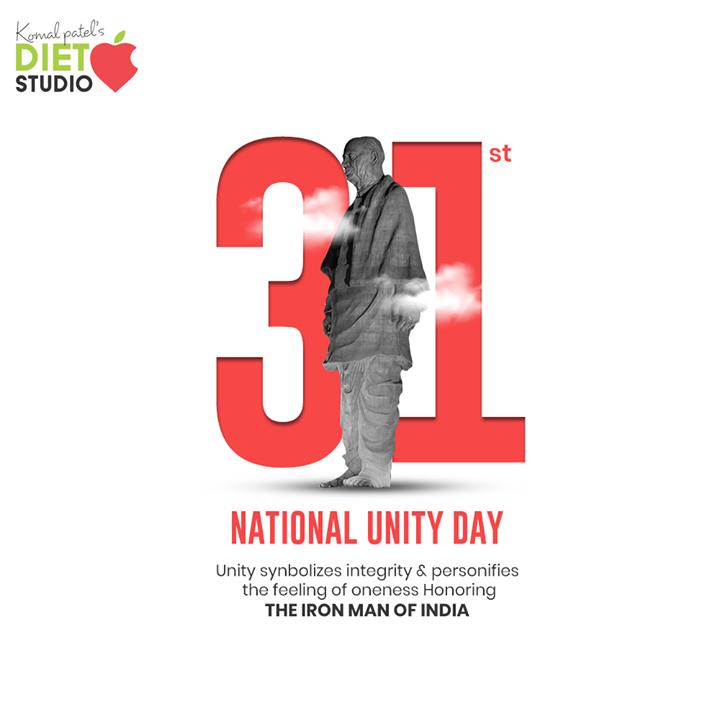 Unity synbolizes integrity & personifies the feeling of oneness Honoring the Iron Man of India  #SardarVallabhbhaiPatel #StatueOfUnity #UnityDay2020 #NationalUnityDay #RashtriyaEktaDiwas #IronManofIndia #KomalpPatel #Diet #GoodFood #EatHealthy #GoodHealth #DietPlan #DietConsultation